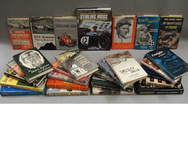 A quantity of racing driver biographies and other books,
