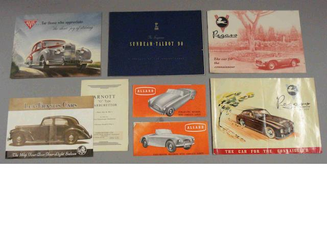 Assorted sales brochures,