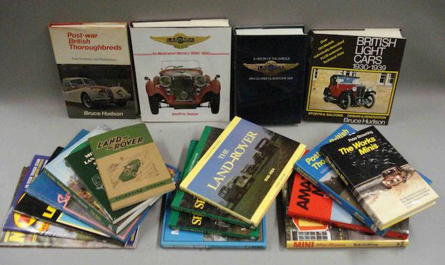 A quantity of reference books relating to British cars,