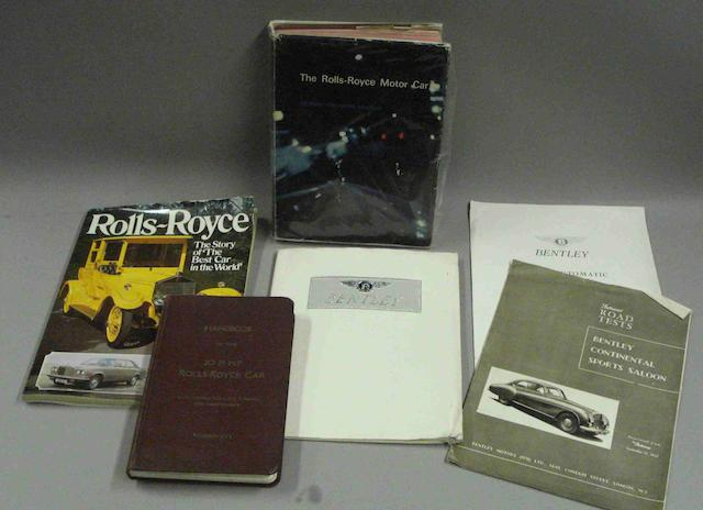 Rolls-Royce and Bentley literature,