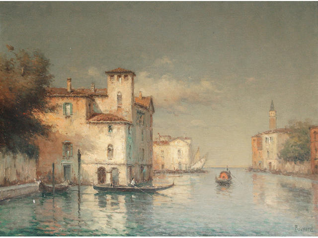 Noel Georges Bouvard (French, 1912-1975) A Venetian backwater