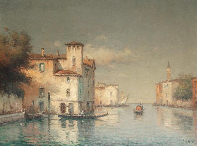 Noel Georges Bouvard (French, 1912-1975) A Venetian backwater