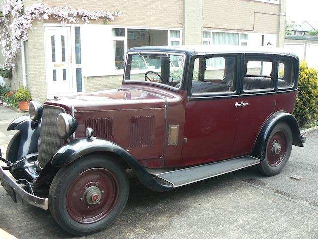 Property of a deceased's estate,1934 Armstrong-Siddeley 12hp Saloon  Chassis no. AS90419 Engine no. AS90419