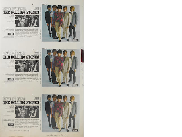 Rolling Stones record cover proofs, 1960s/70s,