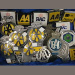 Assorted AA and RAC badges,