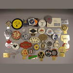 Assorted motoring badges and plaques,
