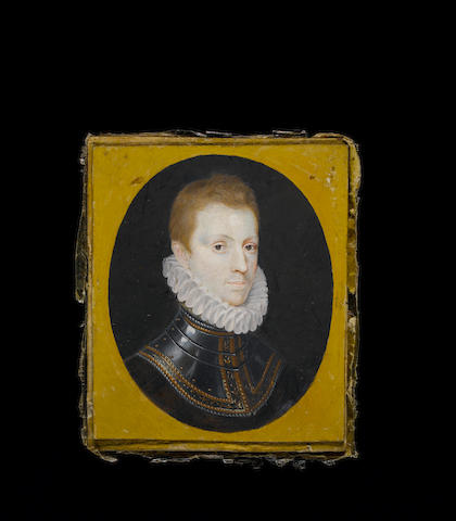 (n/a) English School, 17th Century Sir Philip Sidney (1554-1586), wearing steel armour with gilt decoration and pleated white ruff