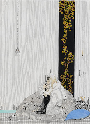 Kay Nielsen (Danish, 1886-1957) The lad in the bear's skin and the King of Arabia's daughter unframed