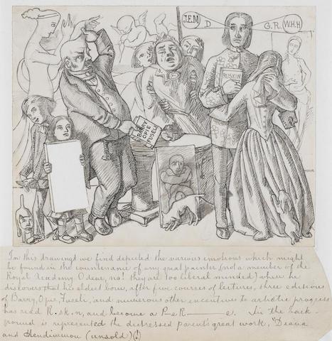 Simeon Solomon (British, 1840-1905) A Pre-Raphaelite studio fantasy unframed