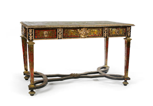 A Louis XIV premier partiè boulle marquetry mahogany centre tableIn the manner of Nicolas Sageot (1666-1731)