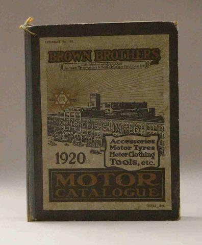 A Brown Brothers Motor Catalogue, 1920,