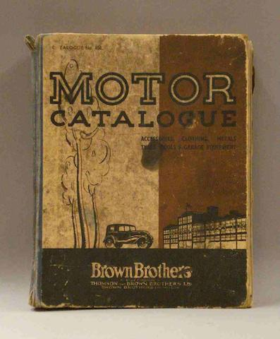A Brown Brothers Motor Catalogue, 1936,