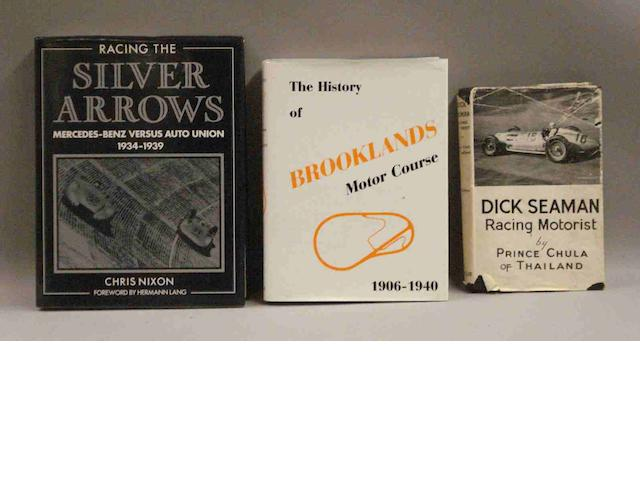 Three books relating to motorsport,