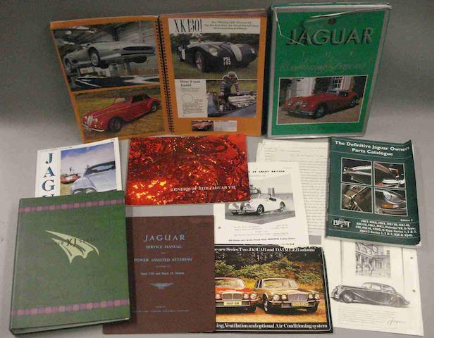 Assorted post-war Jaguar literature,