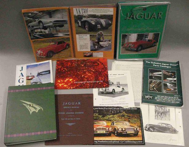 Assorted post-war Jaguar literature,