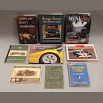 Assorted motoring books and literature,
