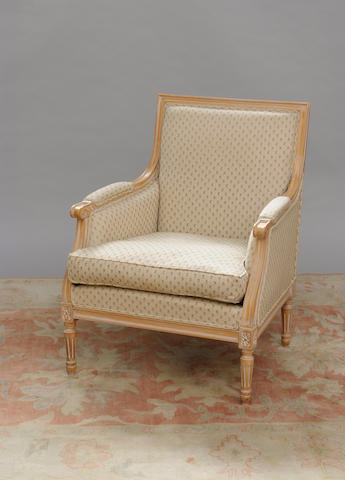 A reproduction Louis XVI style bergere