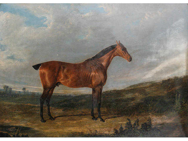 Follower of John Frederick Herring, Snr. (British, 1795-1865) A horse, thought to be called Thyrsis, in a landscape