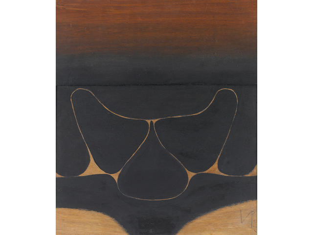 Victor Pasmore R.A. (British, 1908-1998) Black movement 42.5 x 37.5 cm. (16 3/4 x 14 3/4 in.)