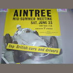 Three Aintree Motor Racing posters,