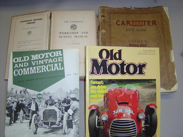 A large quantity of motoring literature,