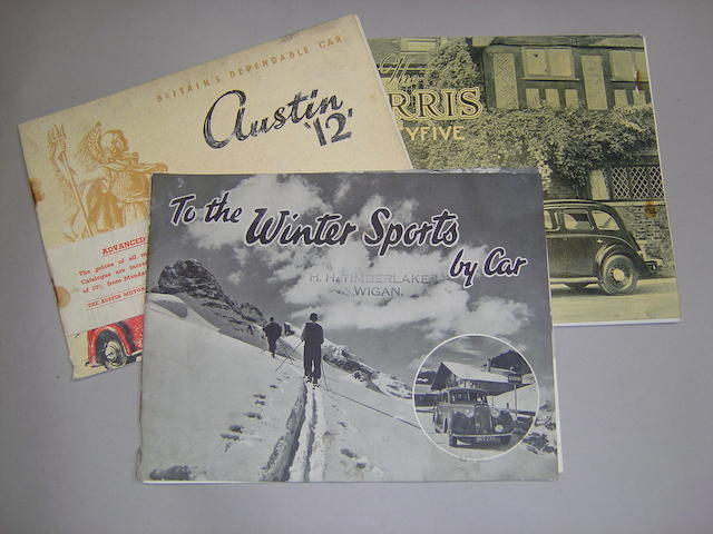A small quantity of pre-war motoring brochures,