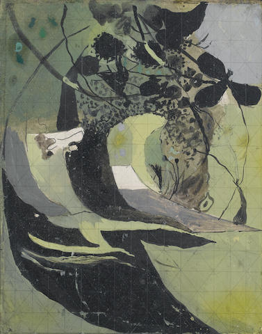 Graham Sutherland O.M. (British, 1903-1980) Entrance to a lane  21.5 x 17.8 cm. (8 1/2 x 7 in.)