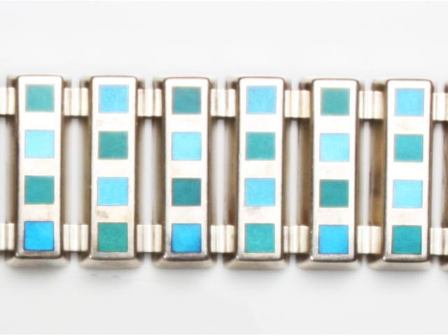 A Georg Jensen enamel bracelet designed by Nana and Jorgen Ditzel