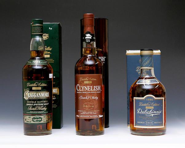 Clynelish -1992  Cragganmore -1993  Dalwhinne -1990