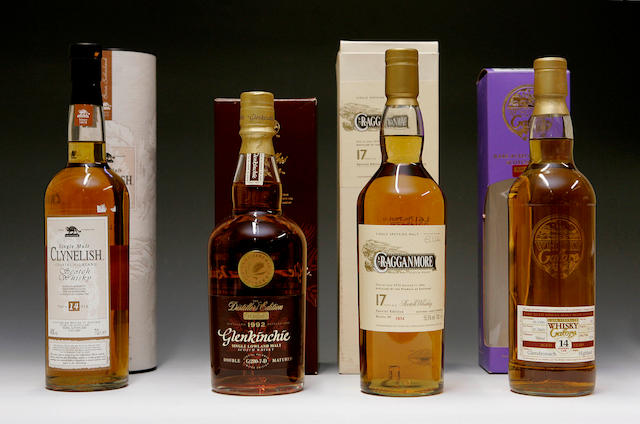 Cragganmore-17 year old  Clynelish-14 year old  Glendronach-14 year old -1990  Glenkinchie -1992