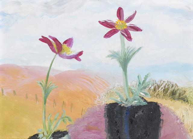 Winifred Nicholson (British, 1893-1981) Flowers on a window sill 30 x 40 cm. (11 3/4 x 15 3/4 in.)