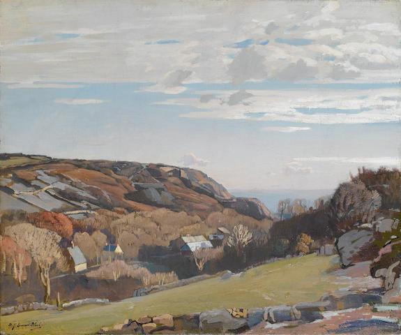 Samuel John Lamorna Birch, R.A., R.W.S., R.W.A. (British, 1869-1955) Above Lamorna 51 x 61 cm. (20 x 24 in.)