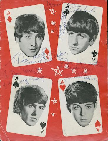 An autographed Beatles/Mary Wells concert programme, 1964,