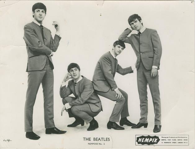An autographed Beatles publicity photograph, 1963,