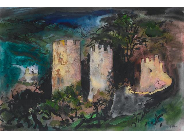 John Piper C.H. (British, 1903-1992) Farleigh Hungerford 39.5 x 57.5 cm. (15 1/2 x 22 3/4 in.)