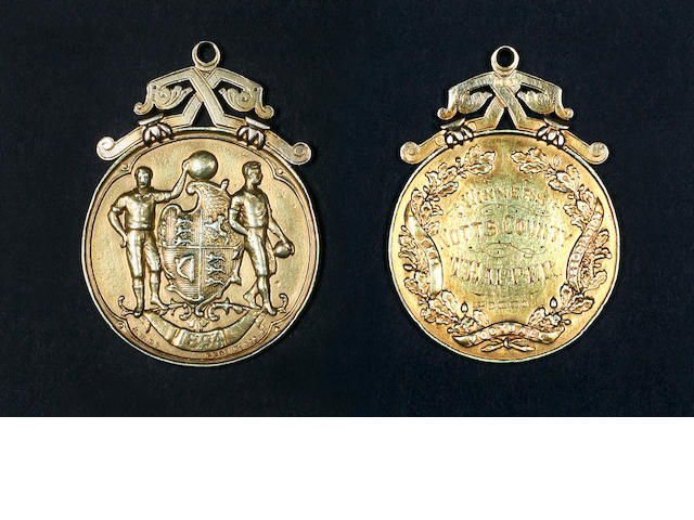 1894 Notts County F.A. Cup winners medal
