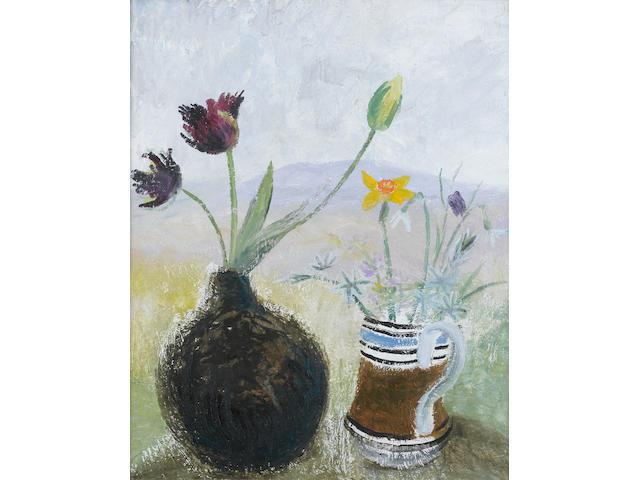 Winifred Nicholson (British, 1893-1981) Parrot Tulips 65.5 x 54 cm. (25 3/4 x 21 1/4 in.)