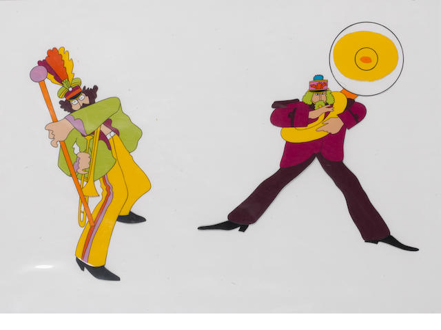 Two original cels from the cartoon 'Yellow Submarine', King Features, 1968,