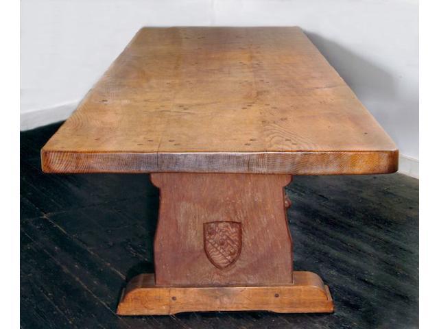 A large Robert 'Mouseman' Thompson of Kilburn oak refectory table
