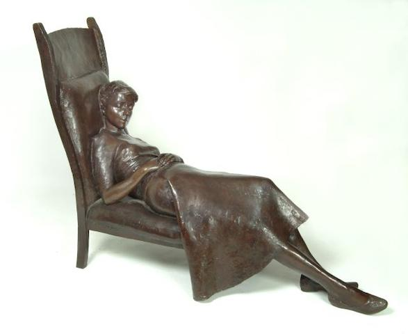 Sydney Harpley (1927 - 1992) Girl on a chair