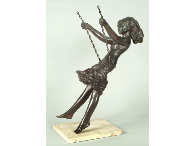 Sydney Harpley (1927 - 1992) Girl on a Swing