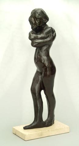 Sydney Harpley (1927 - 1992) Enfolded Nude
