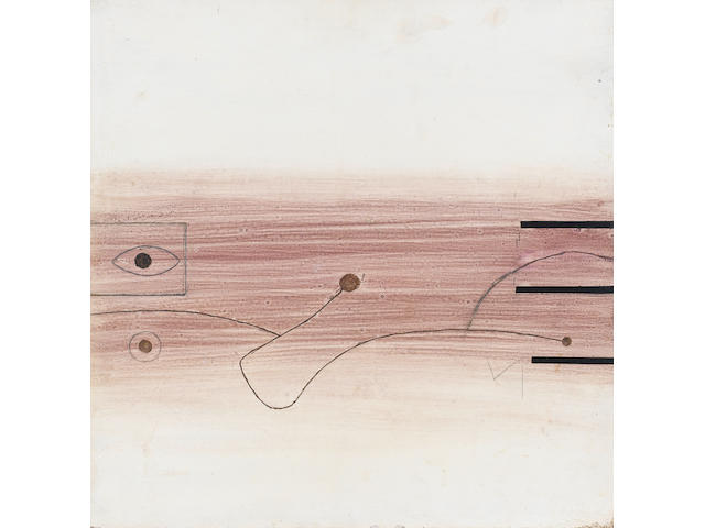 Victor Pasmore R.A. (British, 1908-1998) Linear movement 40.5 x 40.5 cm. (16 x 16 in.)