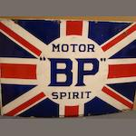 A BP Union Jack enamel sign,