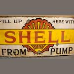 A Sealed Shell enamel sign,