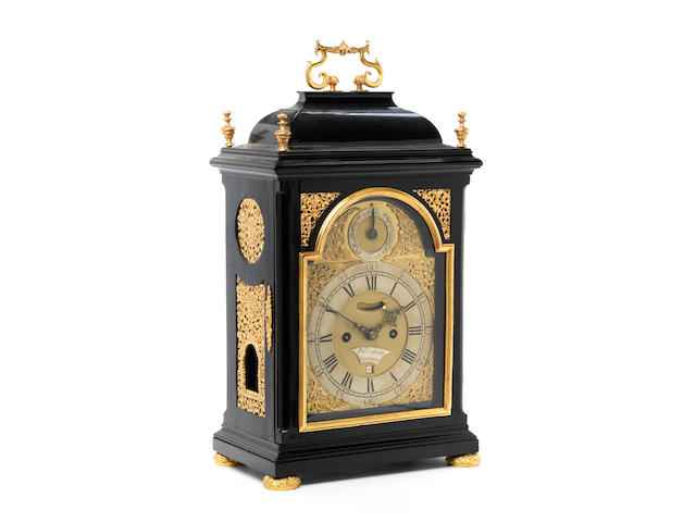 A late 18th century ebonised bracket clock Wm. Smith, London