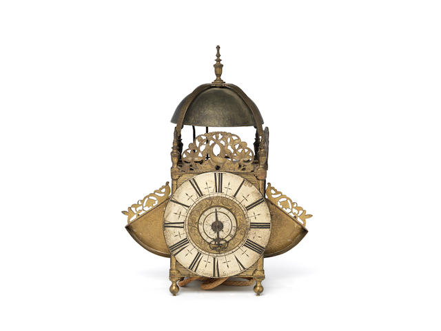 An early 18th century winged lantern clock Jno. Barrow, London