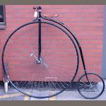A 50 inch Ordinary 'Challenge' bicycle by Ollerton Engineering, modern,
