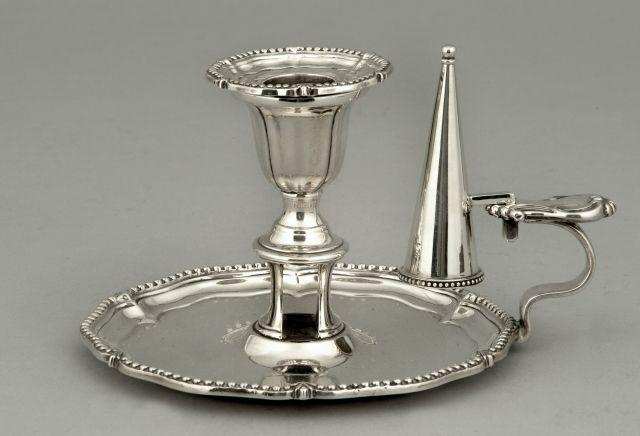 A Victorian  chamberstick by Henry Wilkinson and Co, Sheffield 1846