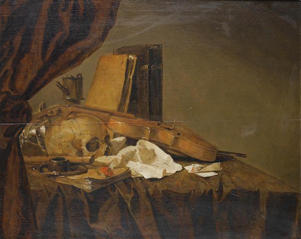 Jacques Grief de Claeuw (Dordrecht 1620-circa 1676 ?) A Vanitas